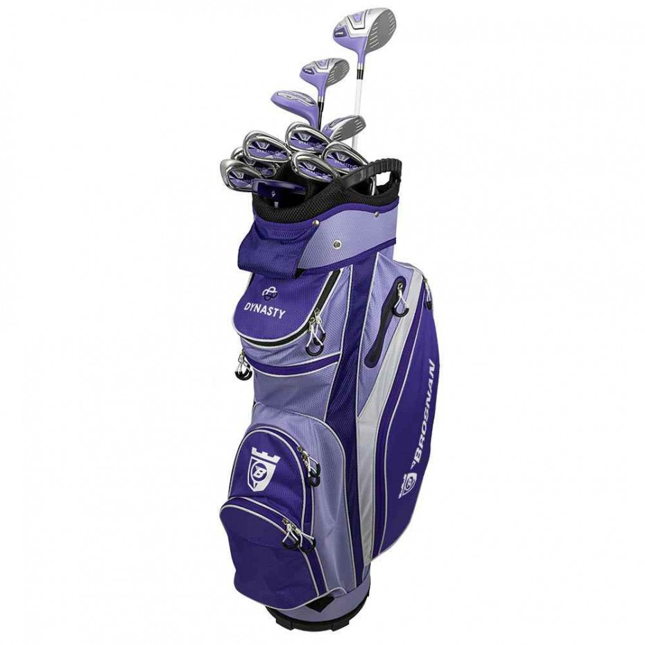 Brosnan Lady Dynasty Package LRH Purple Driver Fwy Hybrids Irons Putter Bag