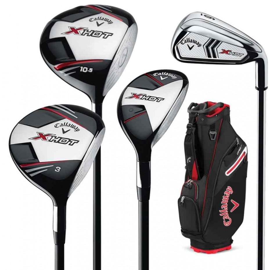 Callaway X Hot Package 2021 Golf Package - Right Hand Stiff Flex - Plus 1 Inch