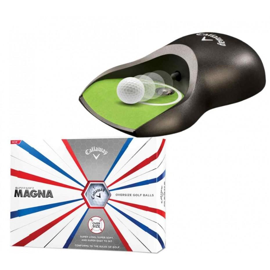 Callaway Putter Return Cup + Magna Golf Ball Package Deal