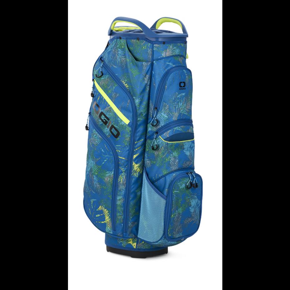 Ogio Woode Cart Bag Blue Floral Lime 2021 15 Way Top