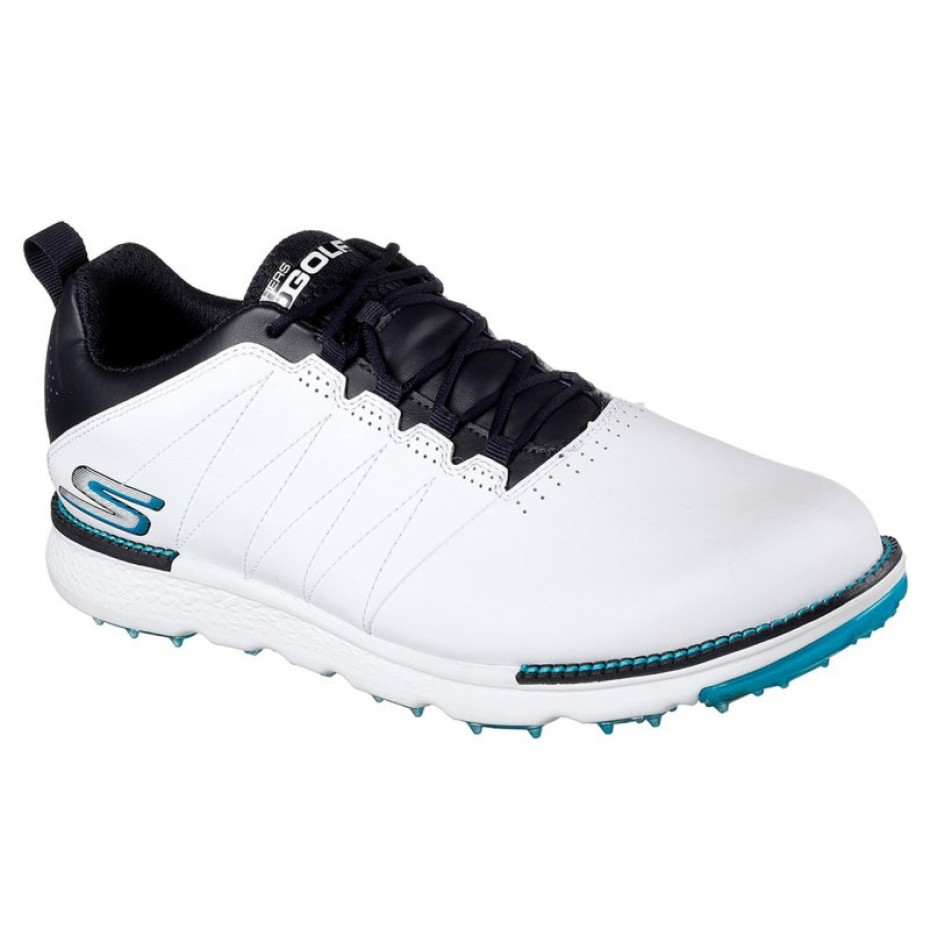 Skechers Go Golf Mens Shoe Elite V 3 Spikeless White Navy