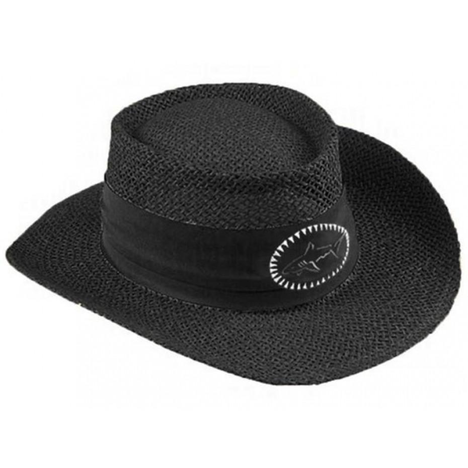 Greg Norman Brim Straw Hat Blk L/XL