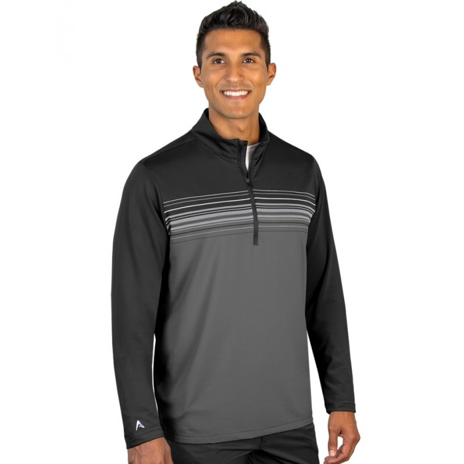 Antigua Mens Polo Black Cinder