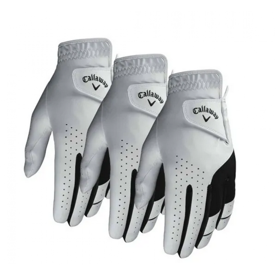 Callaway Weather Spann GLH All Weather Glove Pack of 3 White
