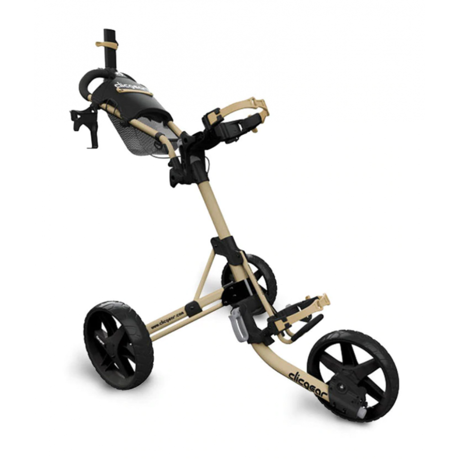 Clicgear M4 Collapsible Three Wheeled Buggy Army Brown