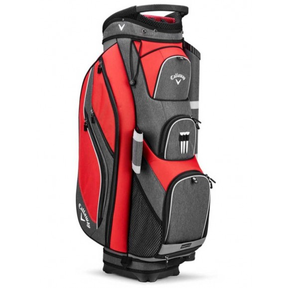 Callaway Forrester 19 Cart Bag Red Titanium Silver