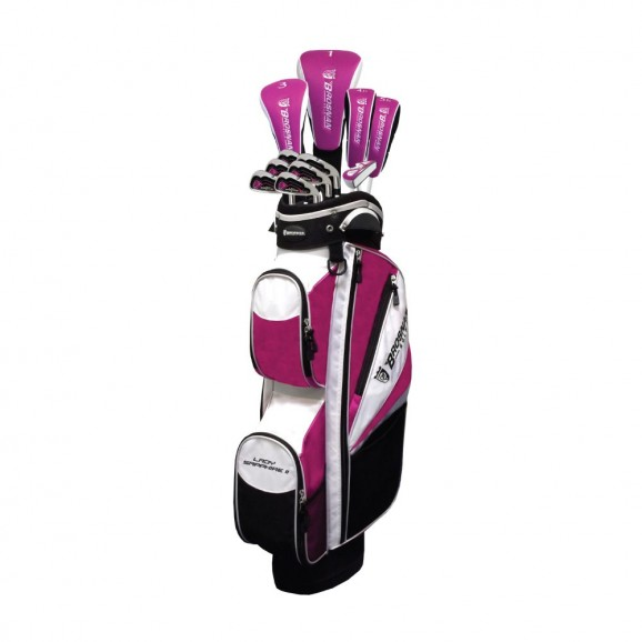 Brosnan Lady Sapphire S2 Package Left Hand Driver Fwy Hybrid Irons Putter Bag