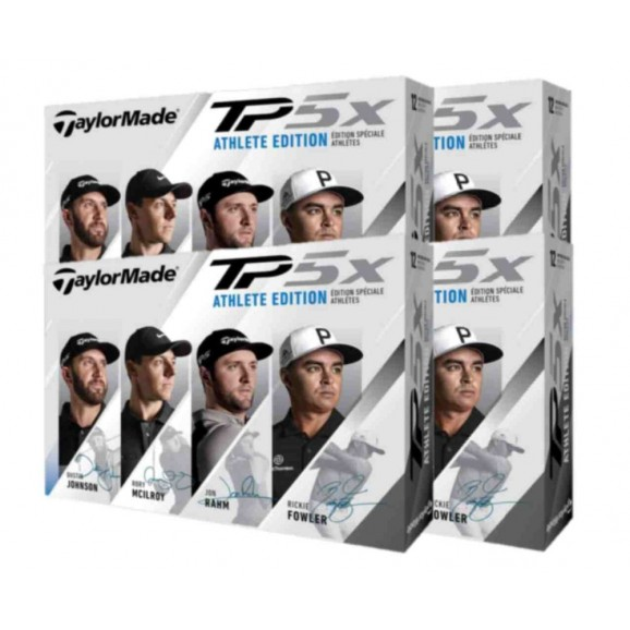 TaylorMade TP5x Athlete Edition Golf Balls - 4 Dozen