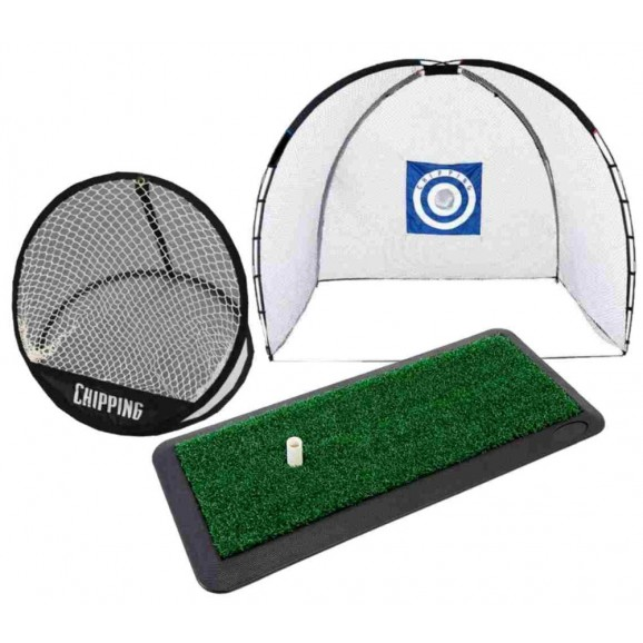 Brosnan Chip Net + Hitting Mat + Deluxe Cage Net Package Deal