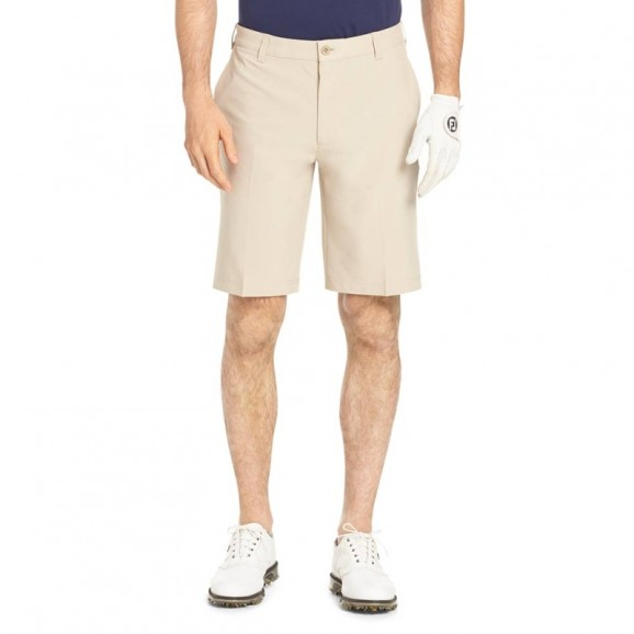 Izod Mens Swing Flex Short R Khaki