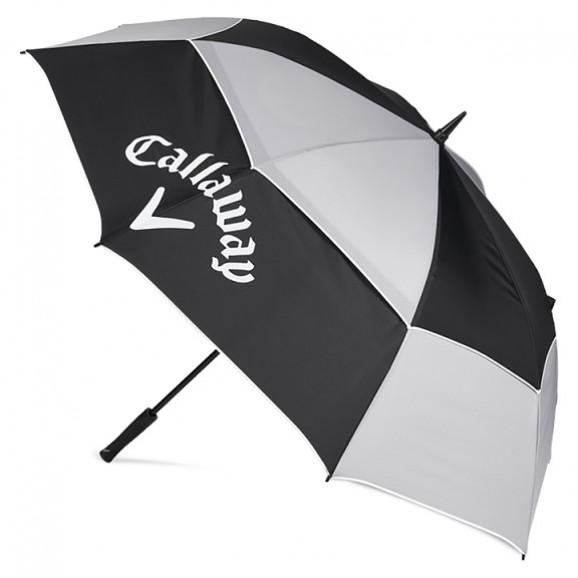 Callaway Umbrella 68 Tour Athletic Double Canopy Black Grey White