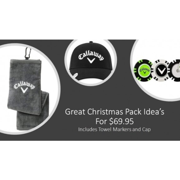 Callaway Christmas Pack Cap Towel and Markers