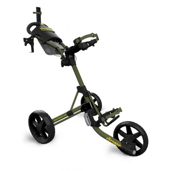 Clicgear M4 Collapsible Three Wheeled Buggy Army Green