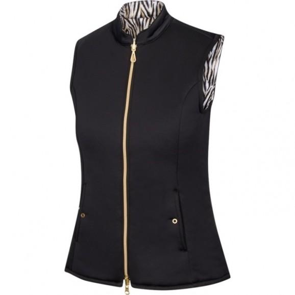 Greg Norman Ladies Explorer Reversible Vest Black Tiger Print