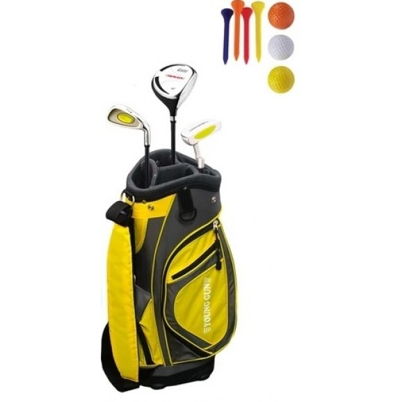Young Gun Junior RH Yellow Age 3 Plus Package Starter Set 3 Fwy Iron Putter and Bag
