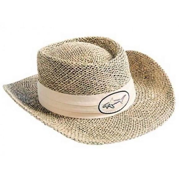 Greg Norman Brim Straw Hat Natural L/XL
