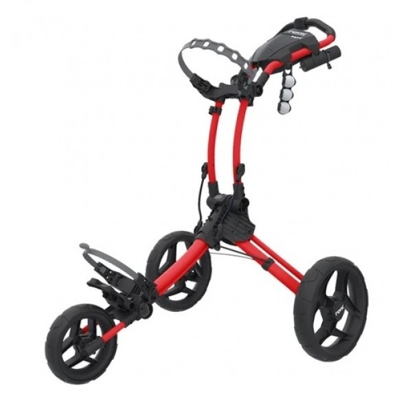 Rovic Compact Collapsible Three Wheeled Buggy Red Black