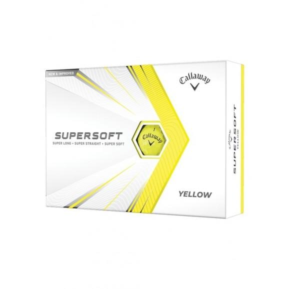 Callaway Supersoft 2021 Golf Ball Yellow Per Dozen