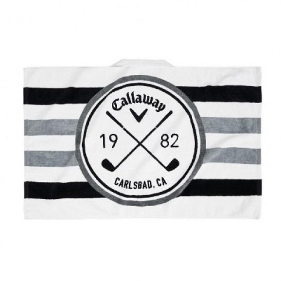 Callaway Tour Towel White Black Charcoal